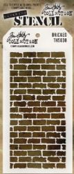 THS038 Stampers Anonymous Tim Holtz Layering Stencil - Bricked